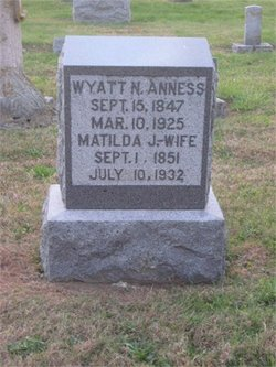 Matilda Jane <i>Barnes</i> Anness