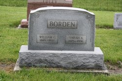 Sarah A. <i>Rodgers</i> Borden
