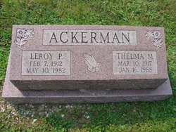 Thelma M <i>Beck</i> Ackerman