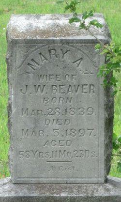 Mary A. <i>Cornelison</i> Beaver