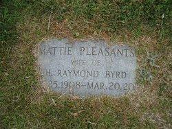 Mattie <i>Pleasants</i> Byrd