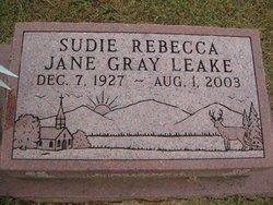 Sudie Rebecca Jane <i>Gray</i> Leake