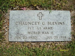 Pvt Chauncey G Blevins