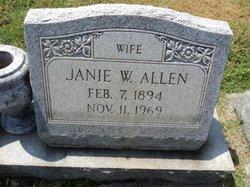 Janie W Allen