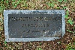 Elizabeth Leonora <i>Reagin</i> Alexander