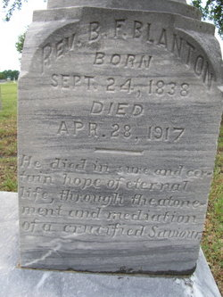 Rev Benjamin Franklin Ben Blanton