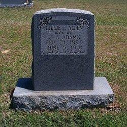 Lillie T <i>Allen</i> Adams