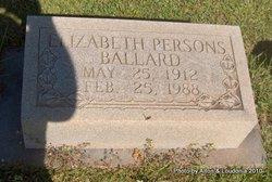 Elizabeth <i>Persons</i> Ballard