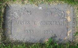 Agnes T Beckman