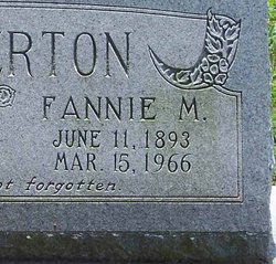 Fannie M Anderton