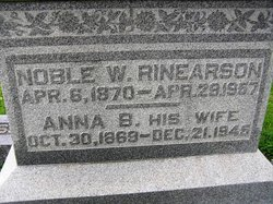 Anna B. <i>Williams</i> Rinearson