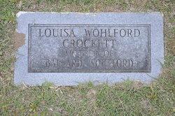 Louise A <i>Coose Wohlford</i> Crockett