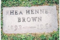 Rhea Vernon <i>Hennen</i> Brown