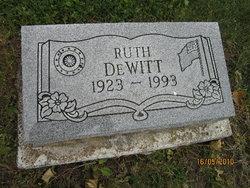 Ruth Evelyn <i>Shultz</i> DeWitt