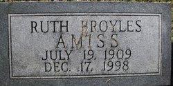 Ruth Ann <i>Broyles</i> Amiss