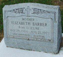 Elizabeth <i>LeJeune</i> Barber