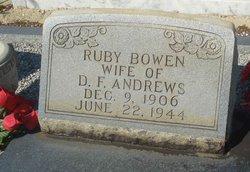 Ruby <i>Bowen</i> Andrews