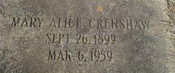 Mary Alice Crenshaw