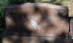 Virginia Ruth Ginger <i>Bussey</i> Parsons