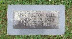Ann Maria <i>Fulton</i> Bell