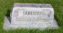 Anna A <i>Kahlbau</i> Ablutz