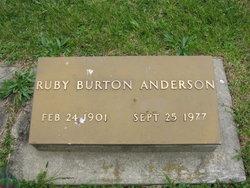 Ruby <i>Burton</i> Anderson