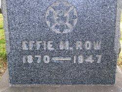 Effie Mae <i>Hutchison</i> Row