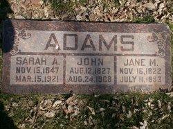 Sarah <i>Albery</i> Adams