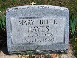 Mary Belle <i>Widner</i> Hayes