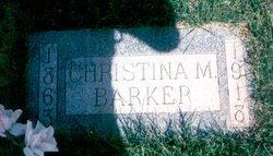 Christina Martina <i>Benson</i> Barker