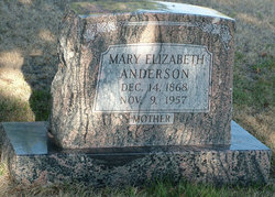 Mary Elizabeth <i>Meharg</i> Anderson