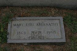 Mary Lou <i>Pitts</i> Abernathy