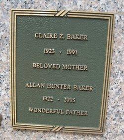 Claire Z Baker