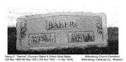 Nancy Fletcher Nannie <i>Duncan</i> Baker