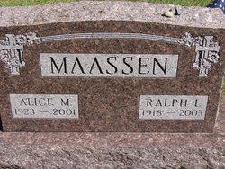 Alice M Maassen