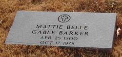 Mattie Belle <i>Gable</i> Barker