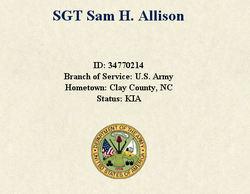 Sgt Sam H. Allison