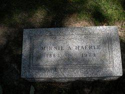 Minnie A <i>Martin</i> Haerle
