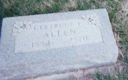 Gertrude Flora <i>Lowe</i> Allen