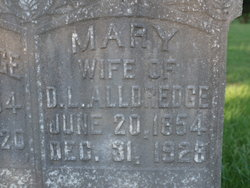 Mary <i>Hood</i> Alldredge