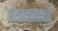 Infant son Horn