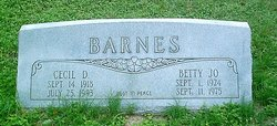 Betty Jo <i>Akins</i> Barnes