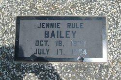 Virginia Elizabeth Jennie <i>Armstrong Rule</i> Bailey