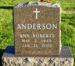 Ann <i>Roberts</i> Anderson
