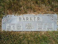 Mary Arlene <i>Edwards</i> Barker