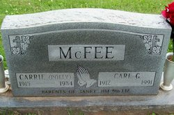 Carrie Mildred Polly <i>Wandless</i> McFee