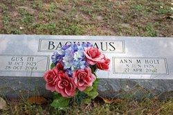 Gus Backhaus, III