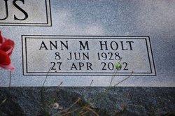 Ann M. <i>Holt</i> Backhaus