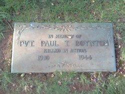 Pvt Paul T. Boynton