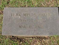 Julia Flax <i>Myers</i> Baker